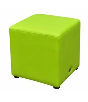 Cube Ottoman Green Lo