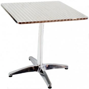 Stainless Steel Moulded Table, Square-600x600