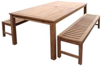 MED200 MEDAN TABLE  BENCH SET